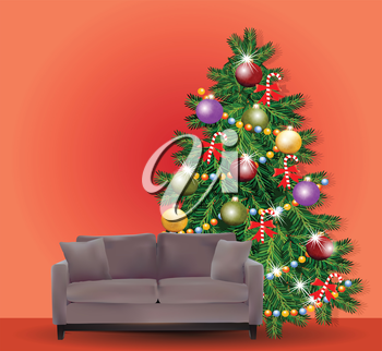 Christmas Tree with Sofa