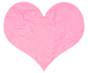 Royalty Free Photo of a Crumpled Paper Heart