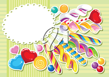 illustration of a sweets sticker background