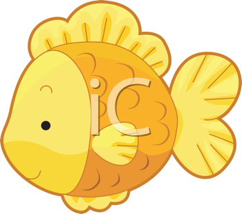 Royalty Free Clipart Image of a Gold Fish