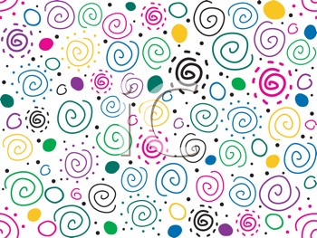 Royalty Free Clipart Image of a Seamless Background of Swirls