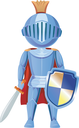 Illustration of a Boy Dressed as a Knight