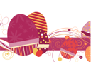 Royalty Free Clipart Image of an Easter Egg Background in Purples
