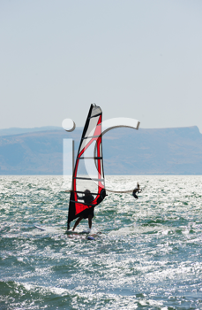 Royalty Free Photo of a Wind Surfer