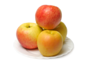 Royalty Free Photo of Red and Yellow Apples on a Plate