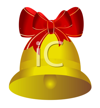 Royalty Free Clipart Image of a Christmas Bell