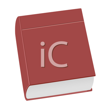 Royalty Free Clipart Image of a Realistic Book