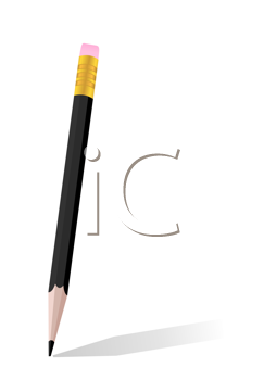 Royalty Free Clipart Image of a Black Pencil