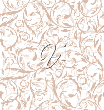 Illustration excellent seamless floral background, pattern for continuous replicate - vector