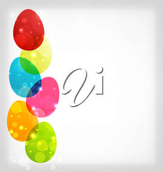 Illustration Easter colorful eggs with space for your text - vector