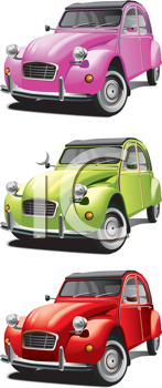 Royalty Free Clipart Image of Cars