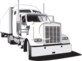 Royalty Free Clipart Image of a Big Truck