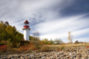 Royalty Free Photo of a Lighthouse on Lake Huron