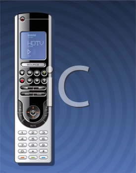 Royalty Free Clipart Image of a Remote Control