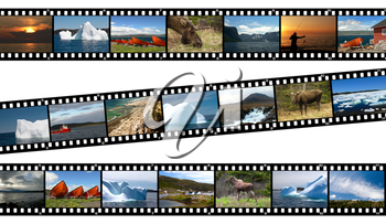 Royalty Free Photo of a Collage of Photos of Newfoundland Canada