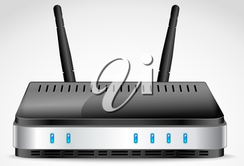 Royalty Free Clipart Image of a Router