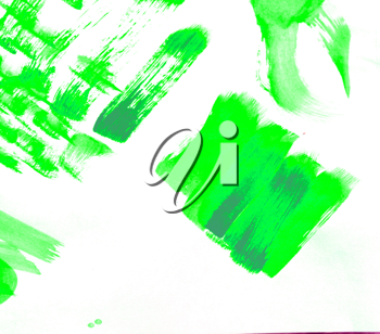 Abstract watercolor hand painted background green