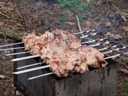 Royalty Free Photo of Meat on a Barbecue