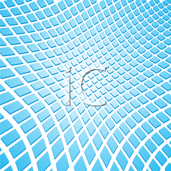 Royalty Free Clipart Image of an Abstract Blue Mosaic Tiles Background