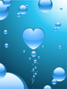 Royalty Free Clipart Image of a Heart Made From Bubbles