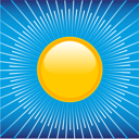 Royalty Free Clipart Image of a Summer Sun