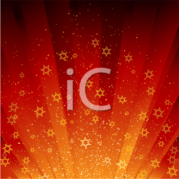 Royalty Free Clipart Image of a Festive Red Background
