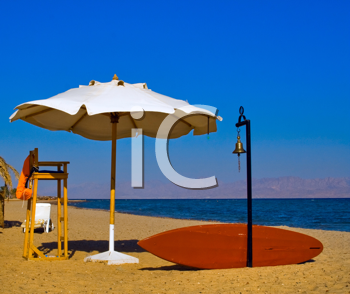 Royalty Free Photo of a Lifeguard Stand on a Beach