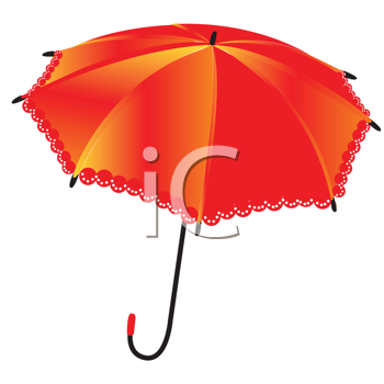Royalty Free Clipart Image of an Umbrella