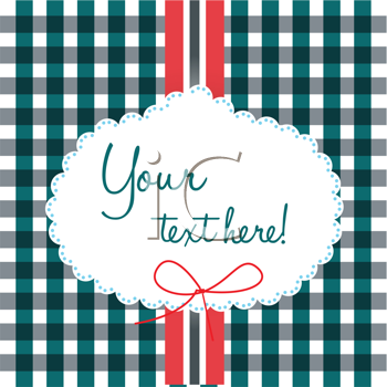 Royalty Free Clipart Image of a Gingham Background With Space for Text