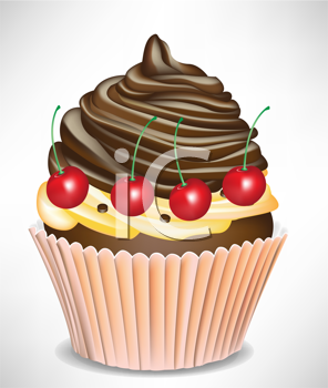 cherry and chocolate cup cake