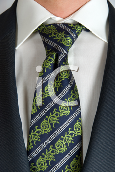 Royalty Free Photo of a Closeup of a Businessman's Tie