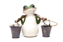 Royalty Free Photo of a Statuette of a Frog With Buckets