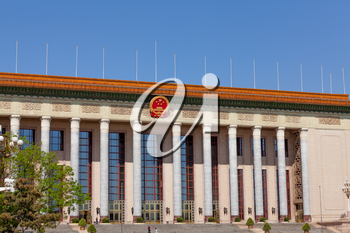 Beijing, China - April 28, 2015: Great Hall of the People, Beijing, China. Building using for events by the chinese government and parliament