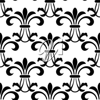 Seamless pattern background with decorative floral elements and embellishments