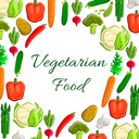 Veggies, greens and vegetables poster. Vegetarian food harvest of vector cauliflower and broccoli, tomato and potato, asparagus, onion and leek, carrot and cucumber. Fresh ripe bell and chili pepper,
