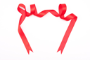 Royalty Free Photo of a Red Ribbon