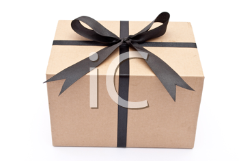 Box with black bow