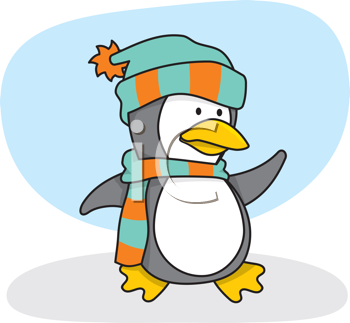 Royalty Free Clipart Image of a Penguin