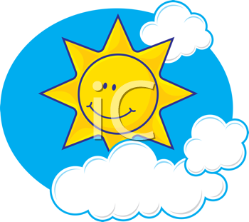 Royalty Free Clipart Image of a Sun