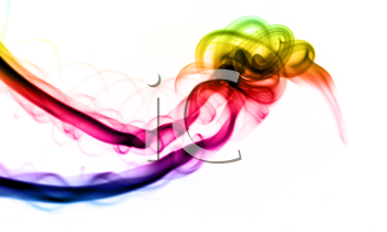 Gradient colored smoke Abstract over the white background