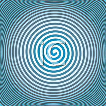 Royalty Free Clipart Image of a Spiral Background