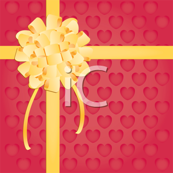 Royalty Free Clipart Image of Ribbon and Bow Background