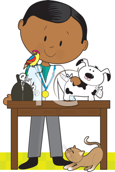 Royalty Free Clipart Image of a Veterinarian