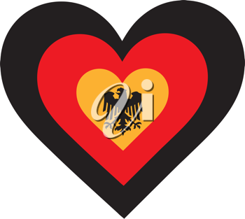 Royalty Free Clipart Image of a Heart Inside a Heart Symbolizing Germany
