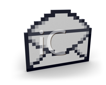 Royalty Free Clipart Image of an Open Envelope