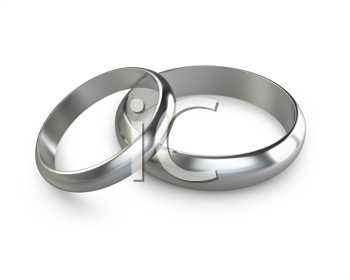 Royalty Free Clipart Image of Platinum Wedding Rings
