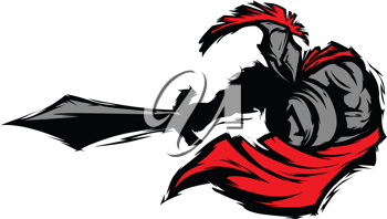 Royalty Free Clipart Image of a Spartan