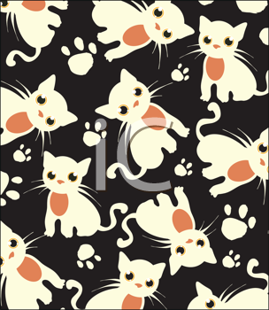 Royalty Free Clipart Image of a Cat Background