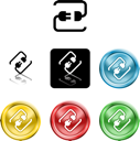 Royalty Free Clipart Image of Several Cord Icons