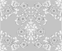 Royalty Free Clipart Image of a Retro Wallpaper Pattern
